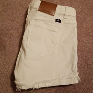 White JEAN shorts by Lucky Brand